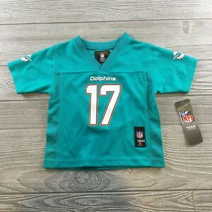 NFL Team Apparel Dolphins #17 Tannehill Youth Boys Aqua Jersey Size 18 Months