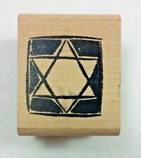 Star of David Rubber Stamp Ducks In A Row c1998