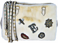 Borsa Borsetta A Mano Donna Crema Ermanno Scervino Bag Woman Cream Gold Bess Fur