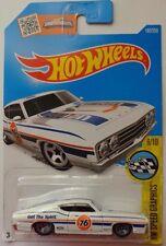 2016 Hot Wheels HW SPEED GRAPHICS 8/10 '69 Ford Talladega 183/250 (White)(Int.)