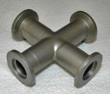 STAINLESS NW KF-16 KLEIN FLANGE CROSS 4-WAY VACUUM FITTING