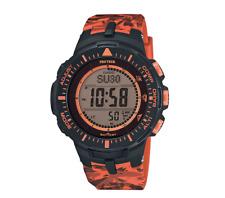 Casio PRG-300CM-4CR Pro Trek Triple Sensor Solar Resin  Band Watch-MSRP $280