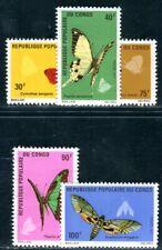 CONGO 1971 323-327 ** POSTFRISCH TADELLOS SCHMETTERLINGE 28€(F4819
