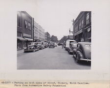 North Carolina Main Street Automobiles Signs VINTAGE 1945 original photo