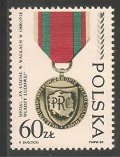 Poland #2930 (A910) VF MNH - 1989 60z WWII Decorations / Medals