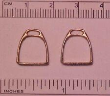 SULSER SADDLERY 1:9 Traditional Model Horse Scale English Stirrups - Raw Brass
