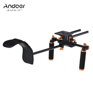 Andoer DSLR Camera Camcorder Shoulder Rig  Handheld Stabilizer Movie Film X2N3