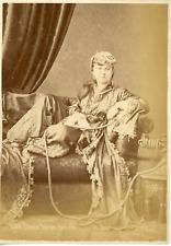 Pascal Sebah, Femme turque chez elle, ca.1875, Vintage albumen print Vintage alb