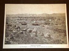 Guerra in Africa nel 1896 Veduta di Ausen Casa di Ras Mangascià e Ras Alula
