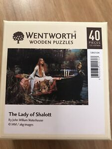Wentworth The Lady of Shalott 40 Piece Wooden Puzzle, Made in UK, Novelty pieces