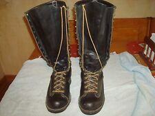 "16"" Wesco 75th Anniversary Lineman Boots size 8 1/2 D"