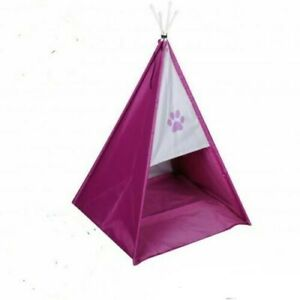 Folding Pet Tent Cat/Kitten/Dog/Puppy House Bed waterproof pink Teepee Bed Igloo