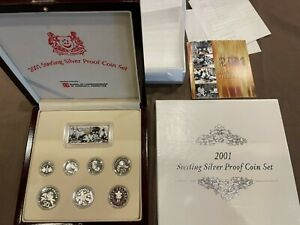2001 SINGAPORE STERLING SILVER PROOF SET IN OGP!!!!!..STARTS@ 2.99