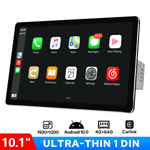 "10.1"" Android 10.0 1 DIN Car Radio GPS WIFI FM Carlink 1920*1200 DSP 4G Module"
