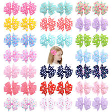 Girls Bow Clips Kids Hair Accessories Ribbon Boutique Hair Clips Birthday Party