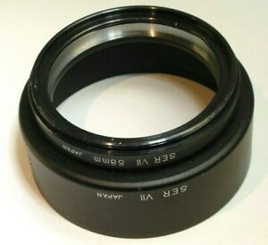 Vivitar 58mm Metal Lens Hood Shade screw in for series 7 VII (with ring adapter)