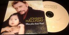 JOHNNY HALLYDAY TRES RARE CD PROMO ORIGINAL EDITION 2005 MON PLUS BEAU NOEL