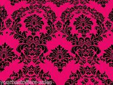 Taffeta Fabric By The Yard Damask Fabric Sewing Fabric Black Taffeta Fabric Pink
