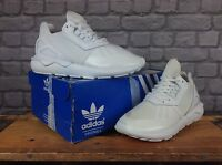 ADIDAS LADIES UK 5 EU 38 WHITE TUBULAR RUNNER TRAINERS RRP £85