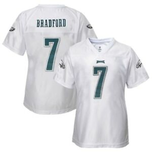 Sam Bradford NFL Philadelphia Eagles Replica White Jersey Girls Youth (XS-XL)