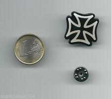 Spilla Metallo Smaltata Croce di Malta, Pin Enamel Metal Maltese Cross 2,30x2,30