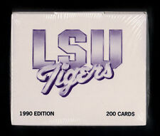 1990 LSU TIGERS FACTORY SEALED COLLEGIATE COLLECTION COMPLETE 200 CARD SET