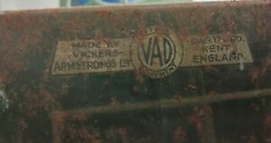Lovely Large Metal Vickers - Armstrong Ltd Art Deco 1930's Millitary Cabinet
