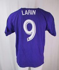 Orlando City SC MLS adidas Purple Go To Tee Shirt Player Cyle Larin #9