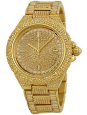 NEW Michael Kors MK5720 Women's Camille Gold Pave Stainless-Steel Quartz Watch