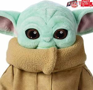 Baby Yoda 30cm Plush Toy Doll Wakes Master The Mandalorian Force Stuffed Gifts