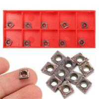10pcs CNC Carbide Insert Cutter Indexable Lathe Milling Inserts Turning Tool Set