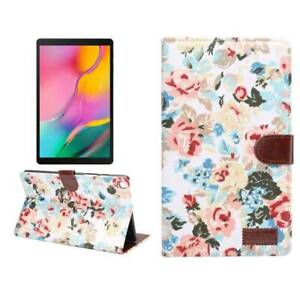 """Floral Leather Stand Wallet Case Cover For Samsung Galaxy Tab A7 Lite 8.7"""" T220"""