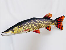 GIANT PIKE MUSKIE SOFT TOY FISH PILLOW GREAT GIFT MASCOT 110CM LONG!