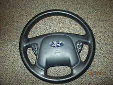 03 FORD ESCAPE BLACK LEATHER STEERING WHEEL W/CRUISE & AIR BAG 01-04 oem