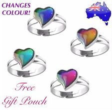 Love Heart Mood Ring Temperature Emotion Feeling Colour Changing Adjustable Ring