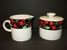 Vintage Mary Engelbreit Cherries Creamer Sugar Bowl Set Me At Home Sakura
