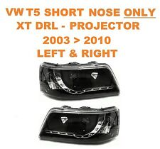 VW T5 Transporter Van & Bus DRL XTB Black Projector Headlights SHORT NOSE ONLY