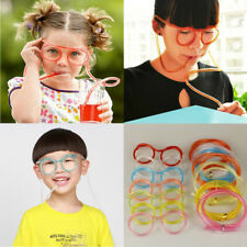 Creative Drink Straws Party Children Kids DIY Crazy Straw Funny Glasses Tube