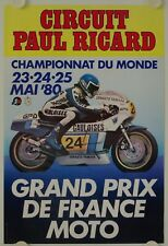 Affiche Grand Prix France Moto 1980 CIRCUIT PAUL RICARD