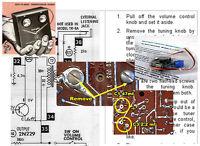 Allied-Knight 2-Transistor Radio Electrolytic Capacitor Recap Kit