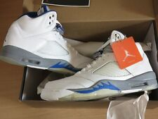 Nike Air Jordan 5 v retro white royal stealth 2006 size 10/44 NEW MINT rar