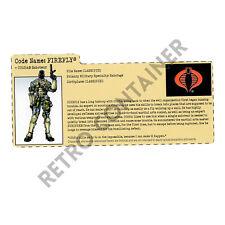 HASBRO GI JOE G.I. JOE - Filecard FC - GI Joe Vs. Cobra - Firefly v6