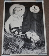 Vintage Top Hand of Tomorrow Cowboy 24x17 Poster