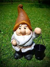 Ceramics Gnome With Sheet Metal Bucket Garden Decoration 39 Cm 226306