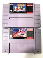 The Magical Quest Starring Mickey Mouse and Disney's Aladdin Super Nintendo SNES