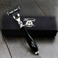 Hand Assembled Black Handle (Gillette Mach 3) stunning Men's Shaving Razor .