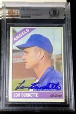 1966 TOPPS #299 LEW BURDETTE RARE BAS BECKETT SIGNED CARD AUTOGRAPHED AUTO !