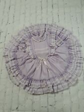 VTG Better Made By Betty Oden Dress Ruffle Pageant Full Circle Sz 6 Lilac Purple