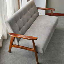 Wooden Frame 1/2 Seater Sofa Loveseat Armchair Small Bedroom Couch Settee Chair