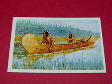 N°10 LE CANOE CONQUETE DE L'OUEST WILLIAMS 1972 PANINI FAR WEST WESTERN